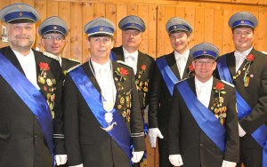 Das ABS-Vorstandsteam: von links: Major Dirk Heistermann, Oberleutant Dr. Marc Lörcher, Oberst Peter Begemann, Oberleutant Andreas Gröning, Leutnant Sebastian Seewald, Leutnant Thomas Wäser, Leutnant Christoph Praschak